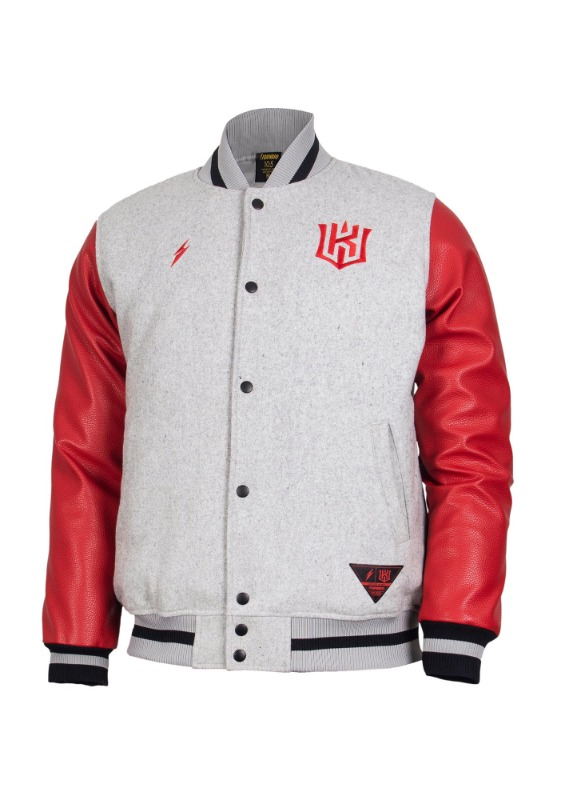 FORWARD kt wiz TEAM LOGO STADIUM JACKET (GREY/RED)
