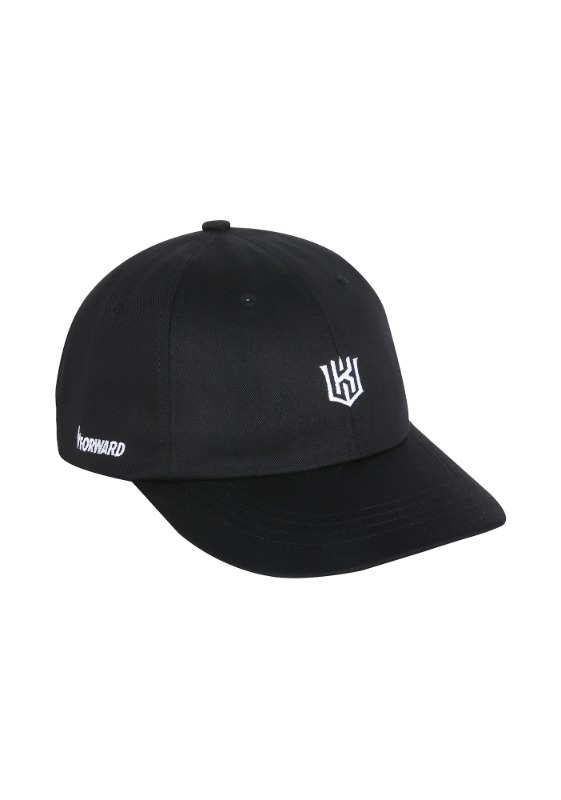 FORWARD kt wiz LOGO 6 PANEL CAP (BLACK/WHITE)